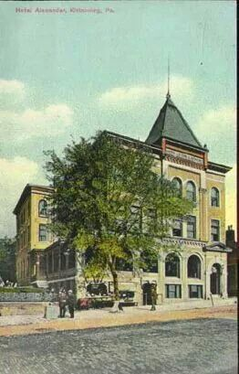 The Alexander Hotel Kittanning Pa Circa Early 1900 S