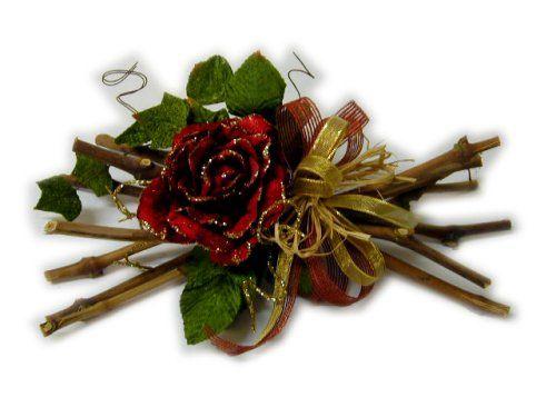 Composizioni floreali natalizie cerca con google - Centrotavola natalizi con fiori finti ...