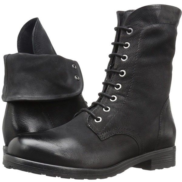 e0081caad62a Clarks Minoa River (Black Leather) Women s Lace-up Boots ( 170) ❤ liked on  Polyvore featuring shoes