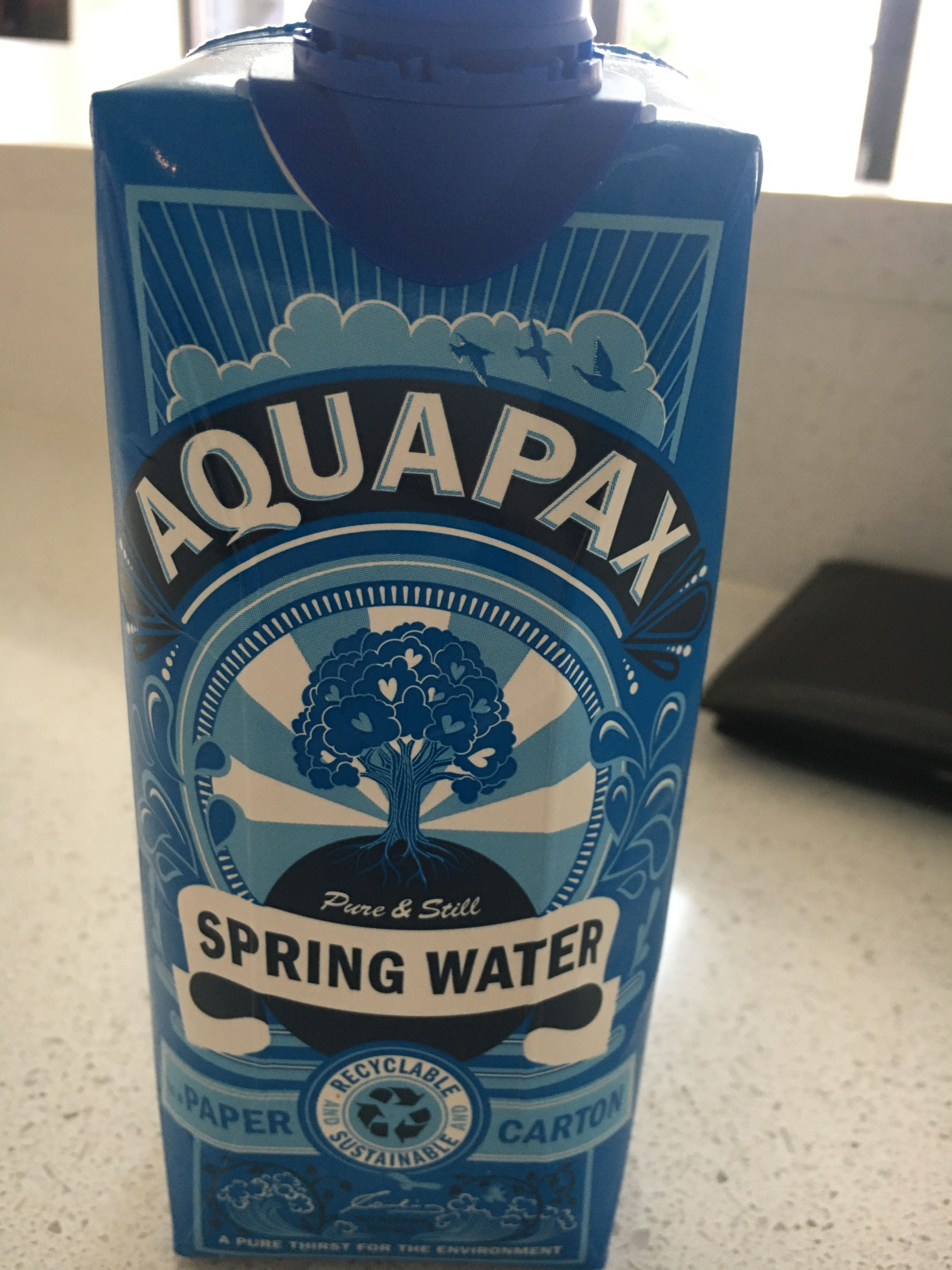 Cardboard bottle pure products cardboard spring water
