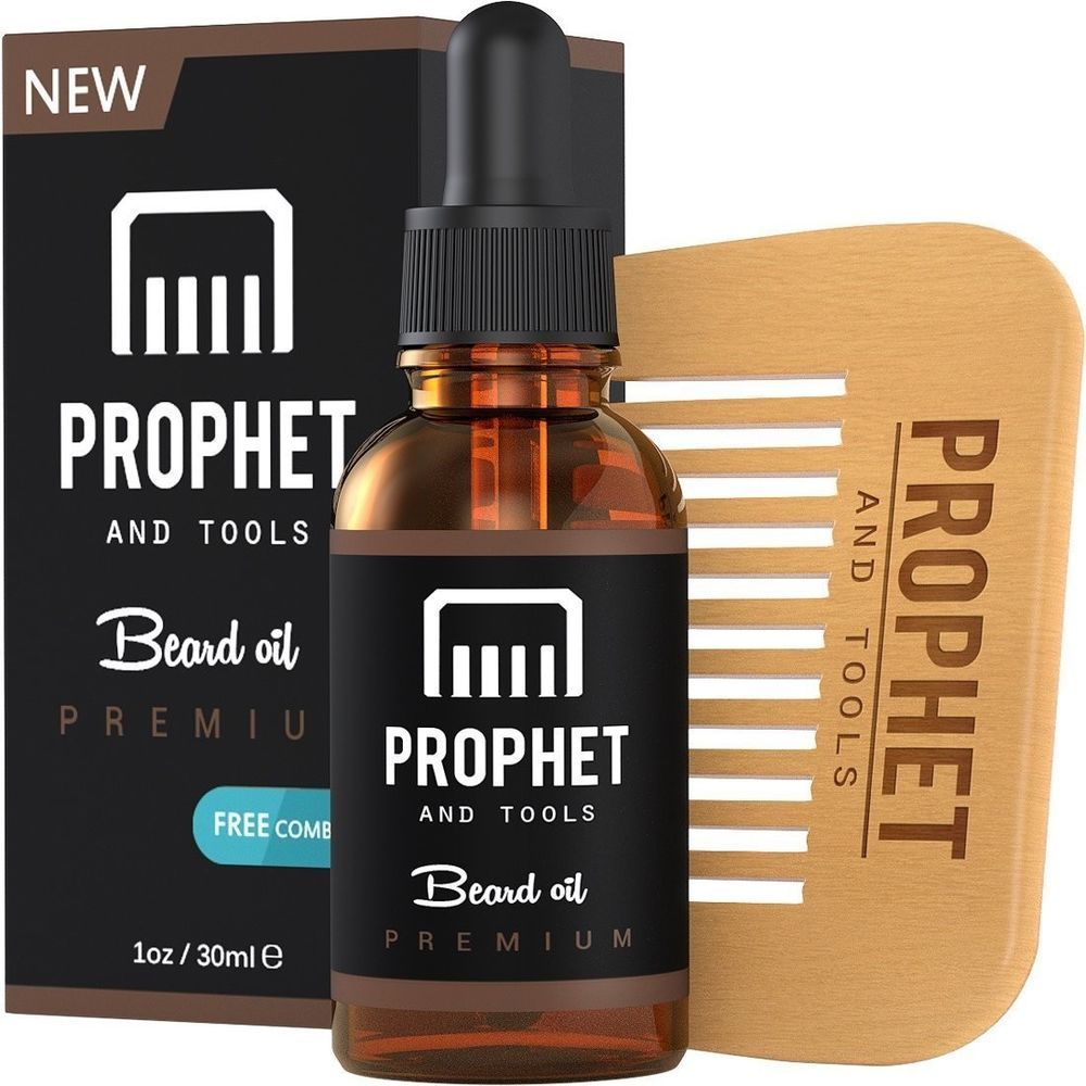 SUPER SALE Prophet and Tools Beard Oil and Beard Comb Kit