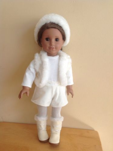 American Girl Doll Retired Winter White Holiday Outfit