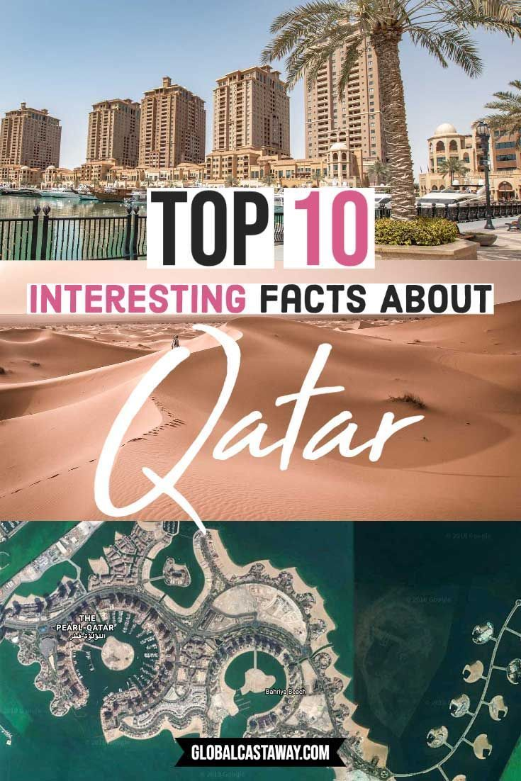 Have fun with these 10 interesting Qatar facts. Explore the richest country in the world and learn more interesting facts about Qatar. #qatar #interestingfacts #globalcastaway