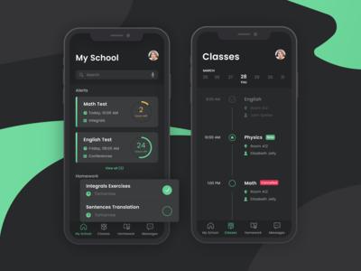 School Schedule App Design, Moderne, Mobile