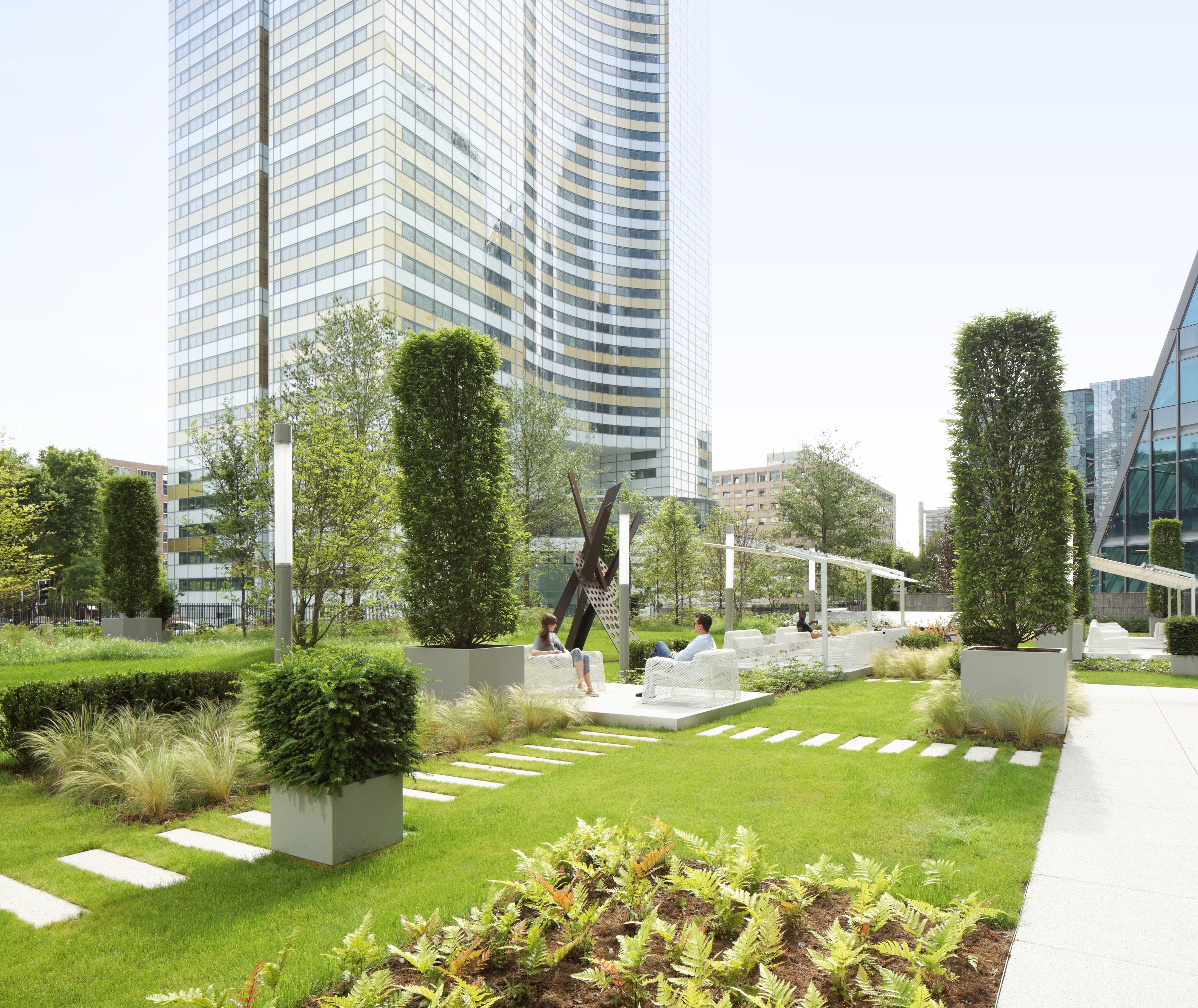 Jardins Terrasses Bureaux Siege D Entreprise Paris La Defense