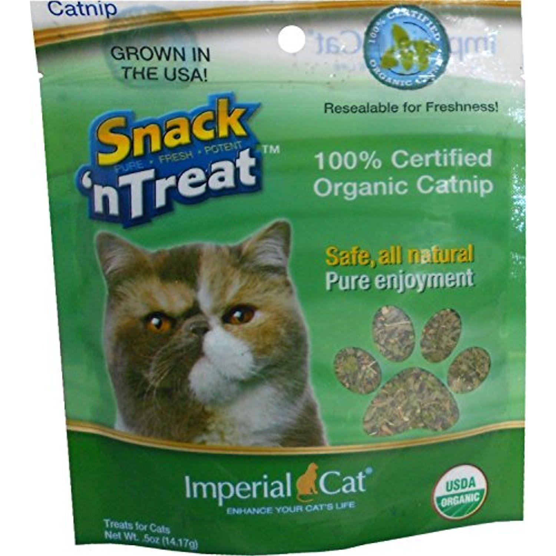 Snack 'n Treats Certified Organic Catnip, 1/2 oz. For