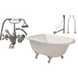 Clawfoot Tub Package - 60-inch Cast Iron Classic Bathtub, British Telephone Faucet - Randolph Morris