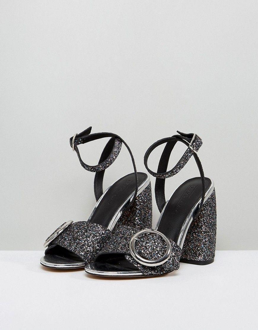c384b7b220c600 ASOS HICCUP Heeled Sandals - Multi
