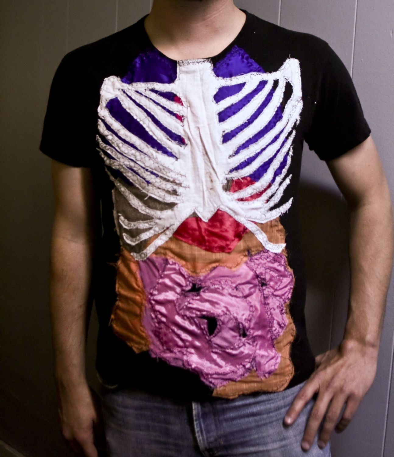 human anatomy science patchwork t-shirt. $60.00, via Etsy. | You can ...
