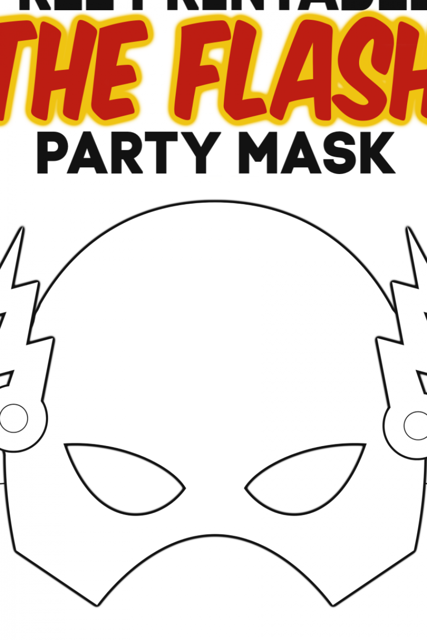 Are you planning a boys superhero party Use this FREE printable DIY The Flash mask template This Flash coloring sheet is perfect for birthday parties or even a kids Halloween costume