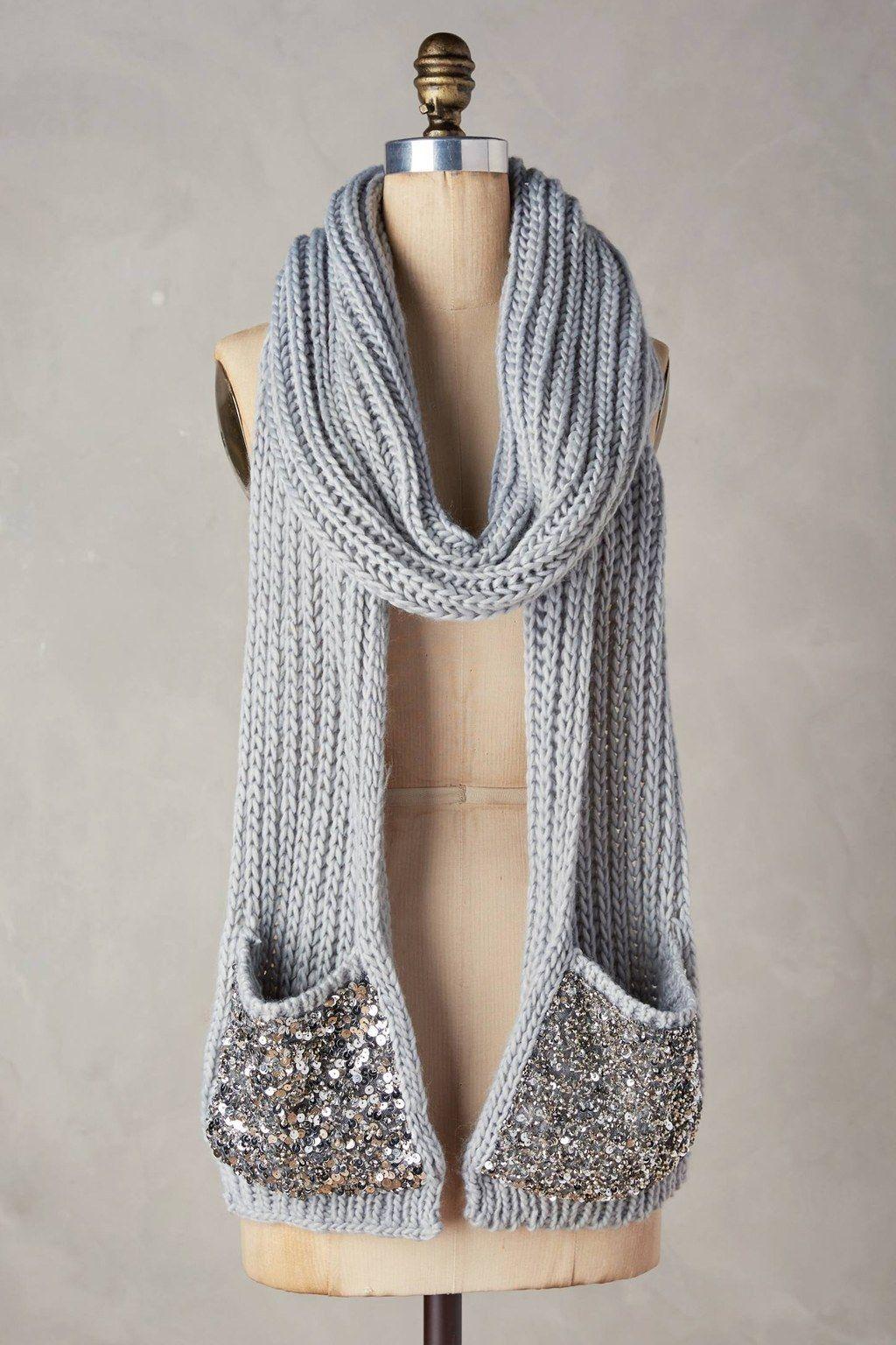 Una bufanda con bolsillos integrados. | cuellos | Pinterest ...