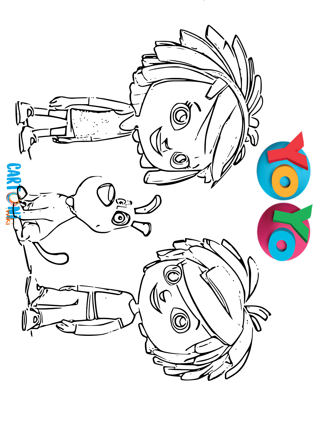 Cartoni Animati Disegni Da Colorare Yo Yo I Due Simpatici