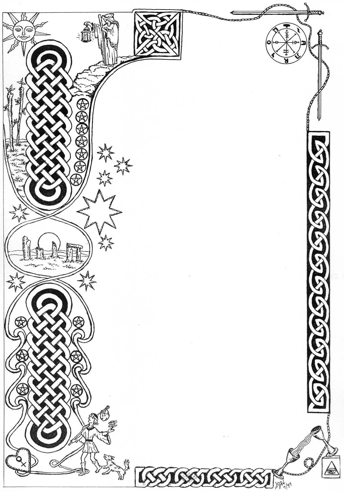 Book of Shadows: #BOS Blank Page. | Celtic | Pinterest | Celta ...