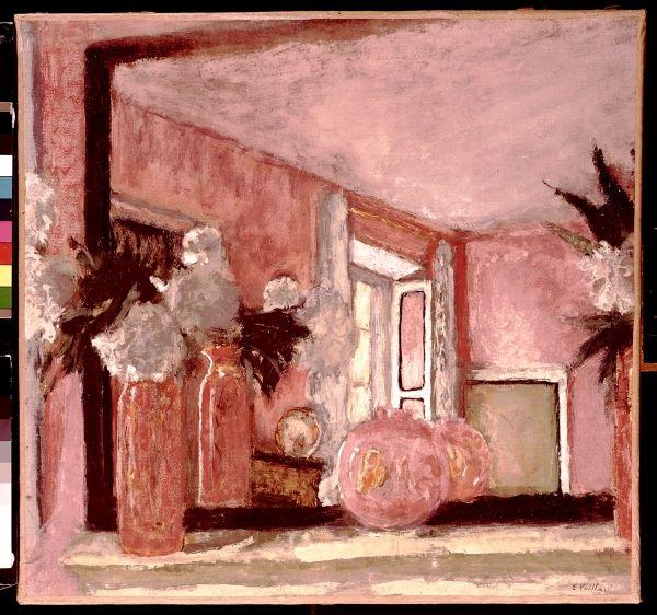 Edouard Vuillard - Still Life on a Mantelpiece (tempera on paper mounted on card)