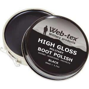 High gloss   High Shine  Black  Weight: 50g per tin