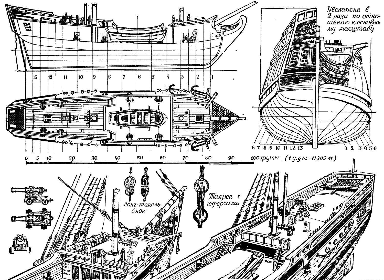 Деревянный корабль своими руками чертежи фото 45