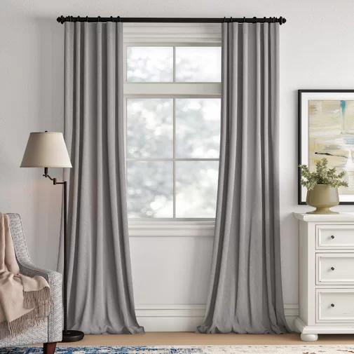 Brittnie Solid Sheer Thermal Rod Pocket Single Curtain Panel Panel Curtains Curtains Curtains With Rings