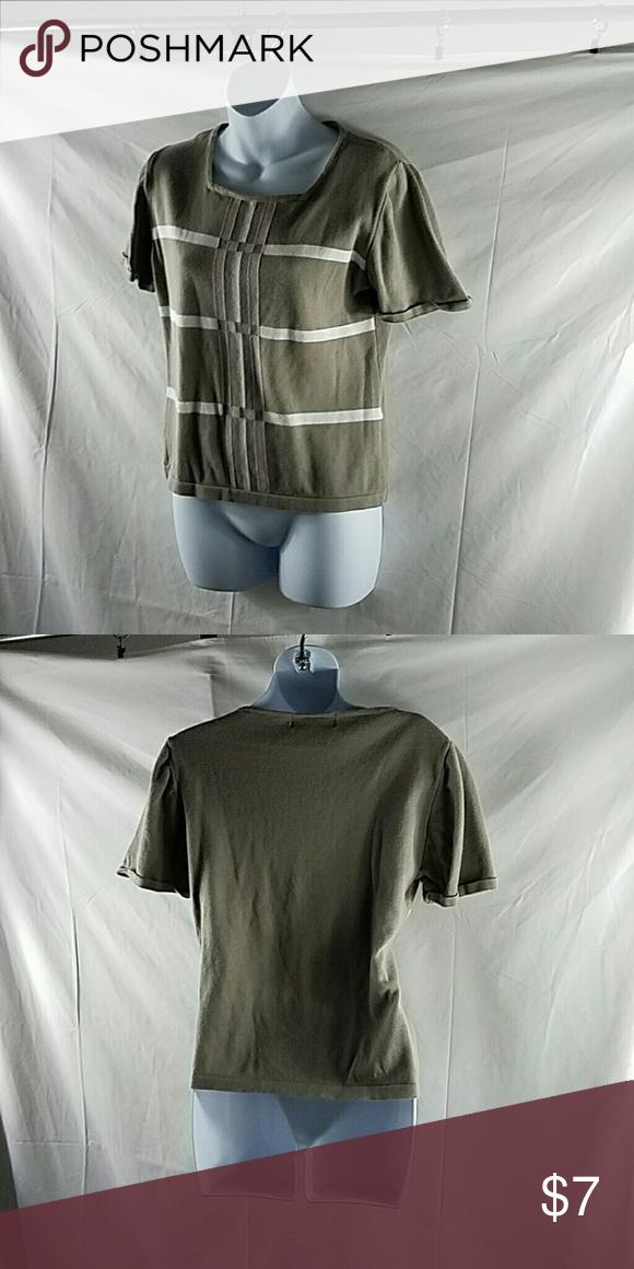 Lightweight business casual top Lightweight business casual top square neckline Casual Corner Tops Blouses