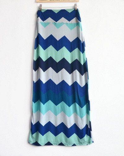Stripe Saia Longa Maxi Skirts Women Geometric Skirts Faldas Mujer Brand Vintage Long Skirts Women