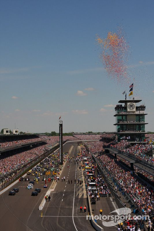 Balloons At Indy 500 Indy Car Racing Nascar Race Tracks Race