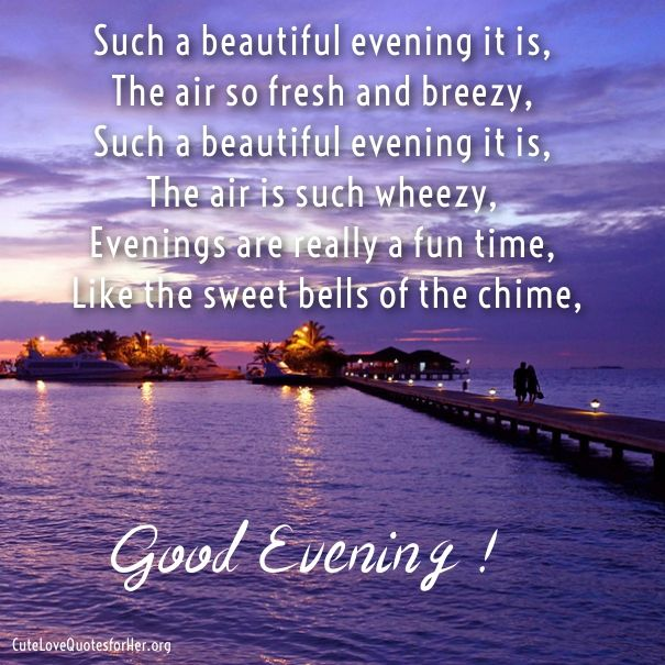 Image result for good evening poem