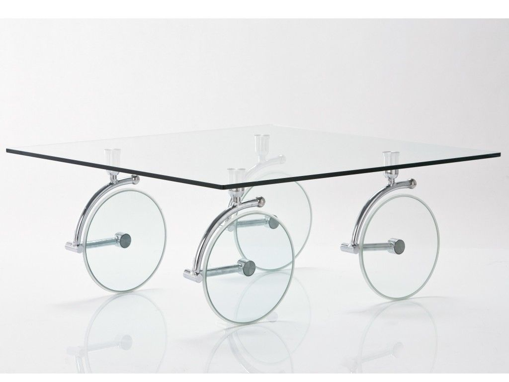 rectangular glass coffee table with