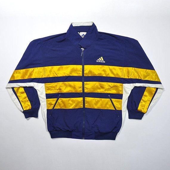 7a9d403aa Rare Colorway Vintage 80s 90s ADIDAS Windbreaker Color Block Jacket / ADIDAS  Track Jacket Old School Adidas Big Logo Streetwear Training XL
