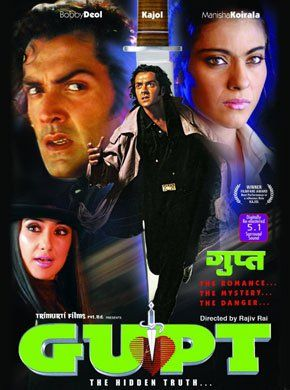Gupt Hindi Movie Online - Kajol, Bobby Deol, Manisha Koirala, Raj Babbar, Paresh Rawal, Sadashiv Amrapurkar and Prem Chopra. Directed by Rajiv Rai. Music by Viju Shah. 1997 [A] BLURAY ENGLISH SUBTITLE