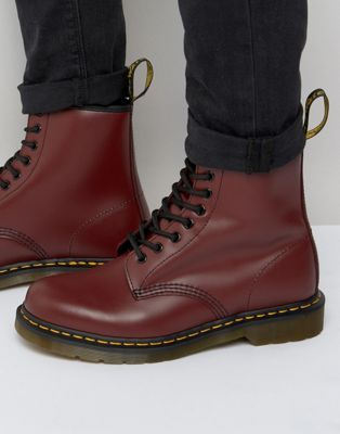 Dr Martens Original Bottines à 8 paires d'œillets Rouge
