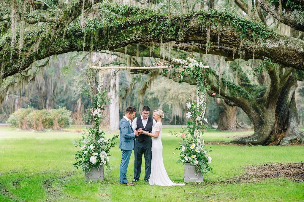 Oversize Oak Tree, GardenInspired Arbor Wedding Ceremony