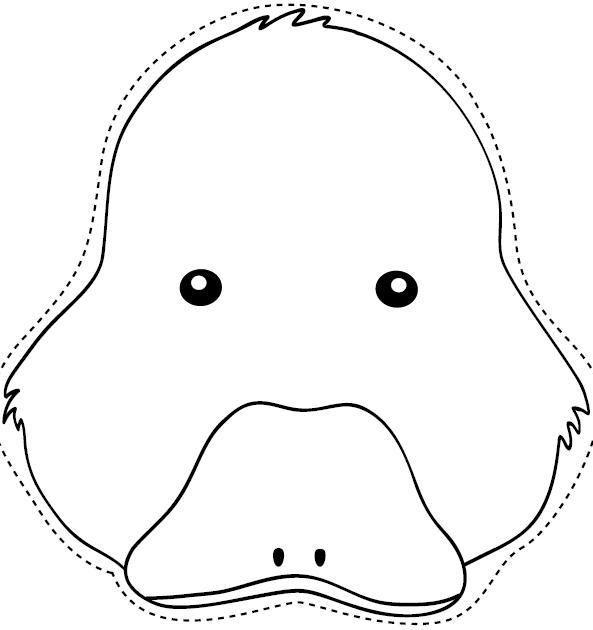 Dibujo recortable Máscara de patito, colorear y recortar | Arte ...