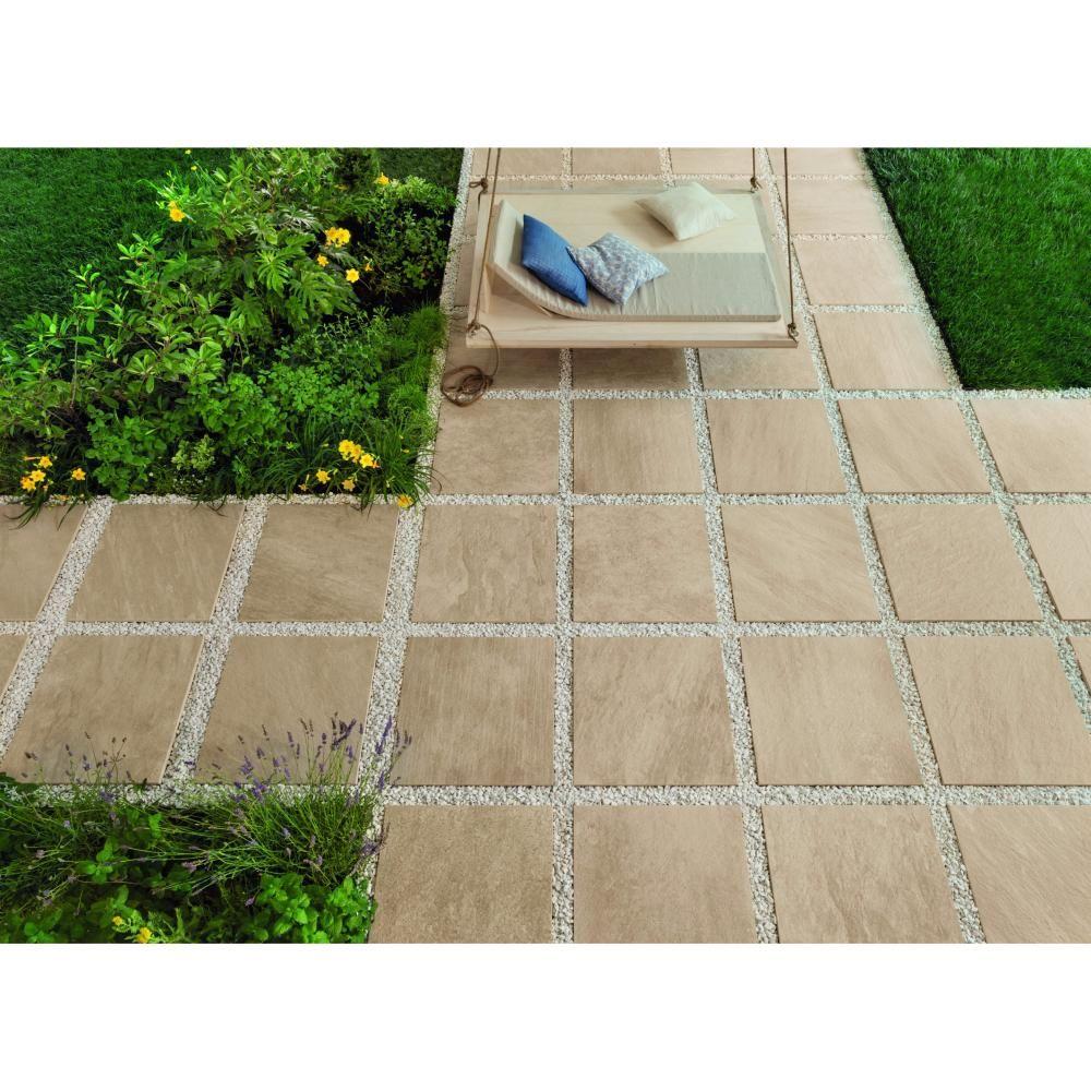 Dalles 2cm Effet Pierre Pour Exterieur 60x60x2 Sand Structure
