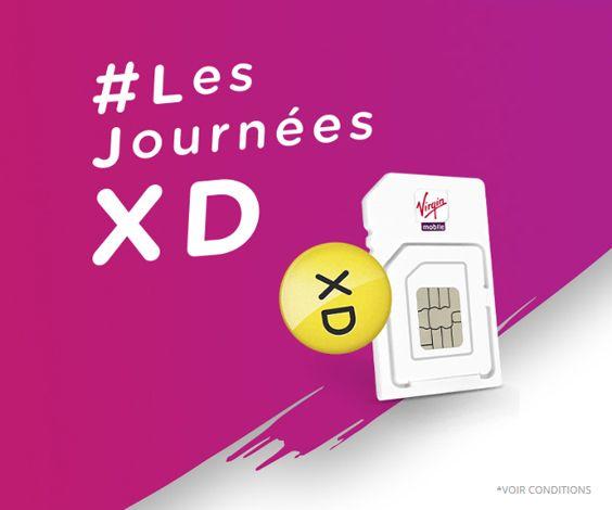 Les Journées XD sont l'occasion pour Virgin Mobile de proposer son forfait avec appels, SMS/MMS illimités et 20 Go d'Internet en 4G pour seulement 3,99€/mois pendant 12 mois.