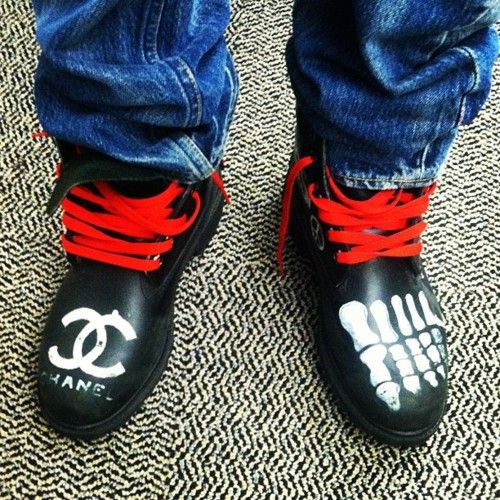 pharrell's customized timberlands.