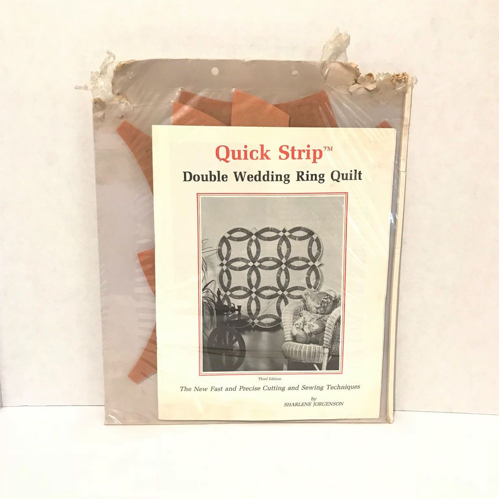 Quick Strip Double Wedding Ring Quilt Pattern By Sharlene Jorgenson Quickstrip Wedding Ring Quilt Double Wedding Ring Quilt Book Quilt