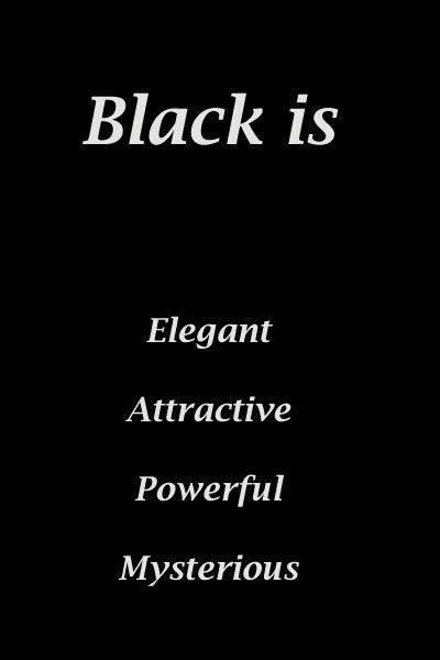 Black Color Meaning - Personality & Psychology