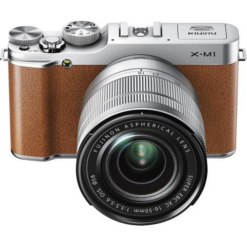 Best Buy Fujifilm X M1 Mirrorless Camera With 16 50mm Lens Brown X M1 Kit Brown System Camera Fujifilm Mirrorless Camera
