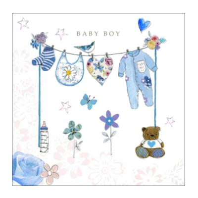 Newborn Baby Boy Greetings Congratulations Card