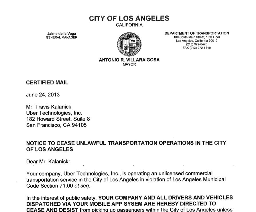 Uber-Cease-And-Desist-Letter | Generation | Pinterest | Stati