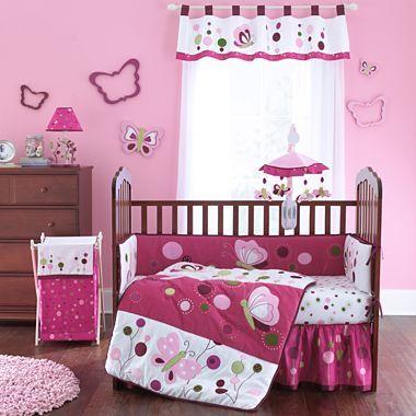 Lambs & Ivy® Raspberry Swirl 4-pc. Bedding Set - jcpenney $150 comforter, bumper, sheet, skirt