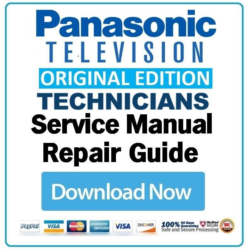 Panasonic Tx 42lz80c Tv Service Manual And Repair Guide Repair Guide Tv Services Panasonic