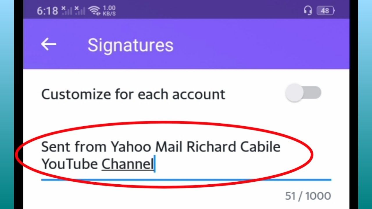How To Create Email Signature In Yahoo Mail Create Email Signature Create Email Email Signatures