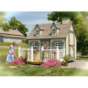 Cape Cod Playhouse 6 x 8 With Floor Kit And DeckRail