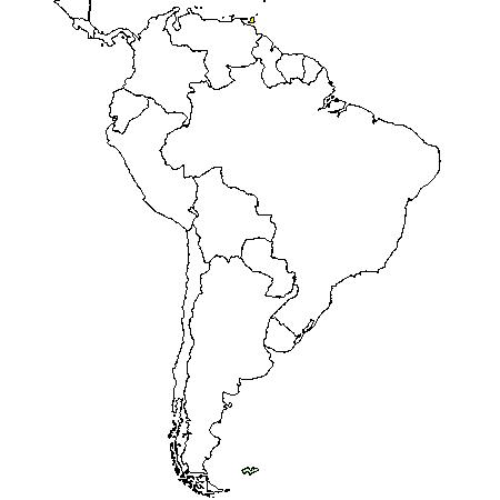 Carte Amerique Latine Muette.Dessin Carte Amerique Du Sud A Colorier Tour Du Monde