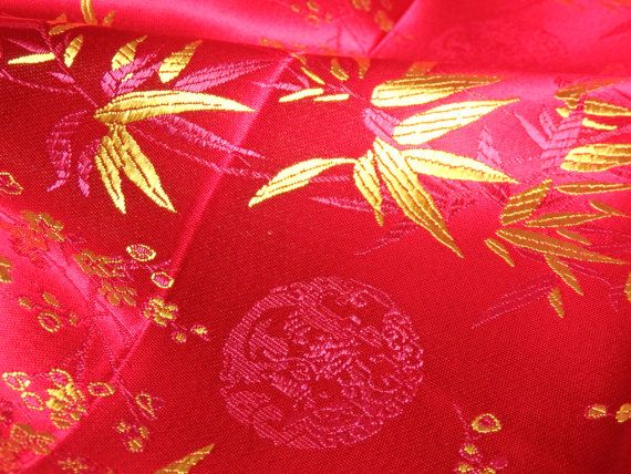 d74aee8f6 Chinese brocade fabric 1 yd. of bright pink by TintinBeads   Crafty ...