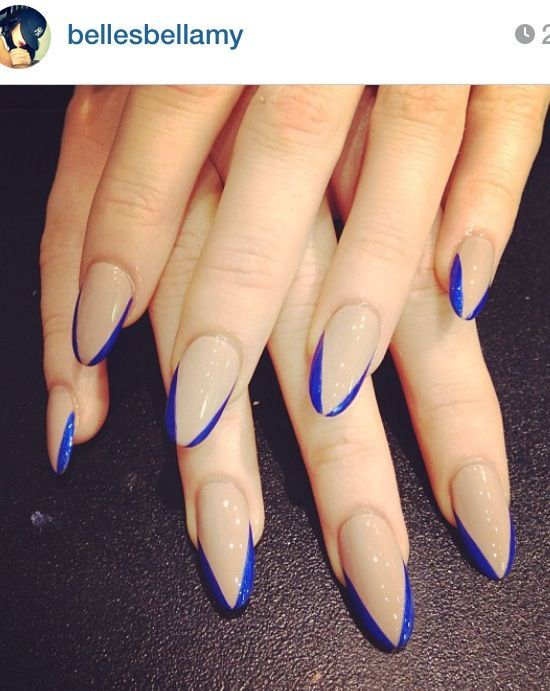 Nails via Instagram   bellesbellamy #Long #stiletto Nails Nails, Idea, Square Nail, Black Stiletto Nails, Nailart, Blue Stiletto Nails, Nail Art