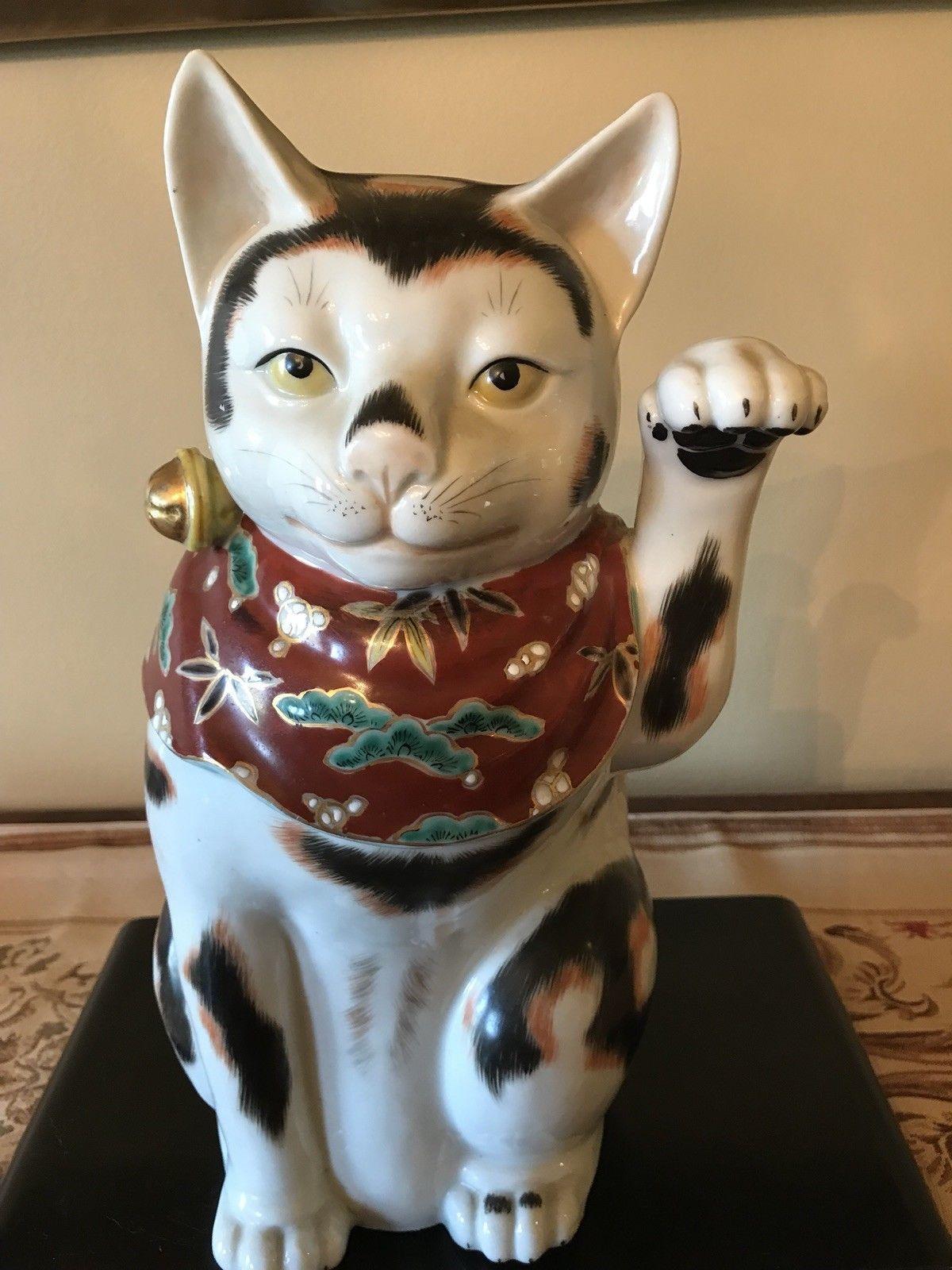 EXTREMELY RARE JAPANESE IMARI BECKONING CAT eBay 招き猫