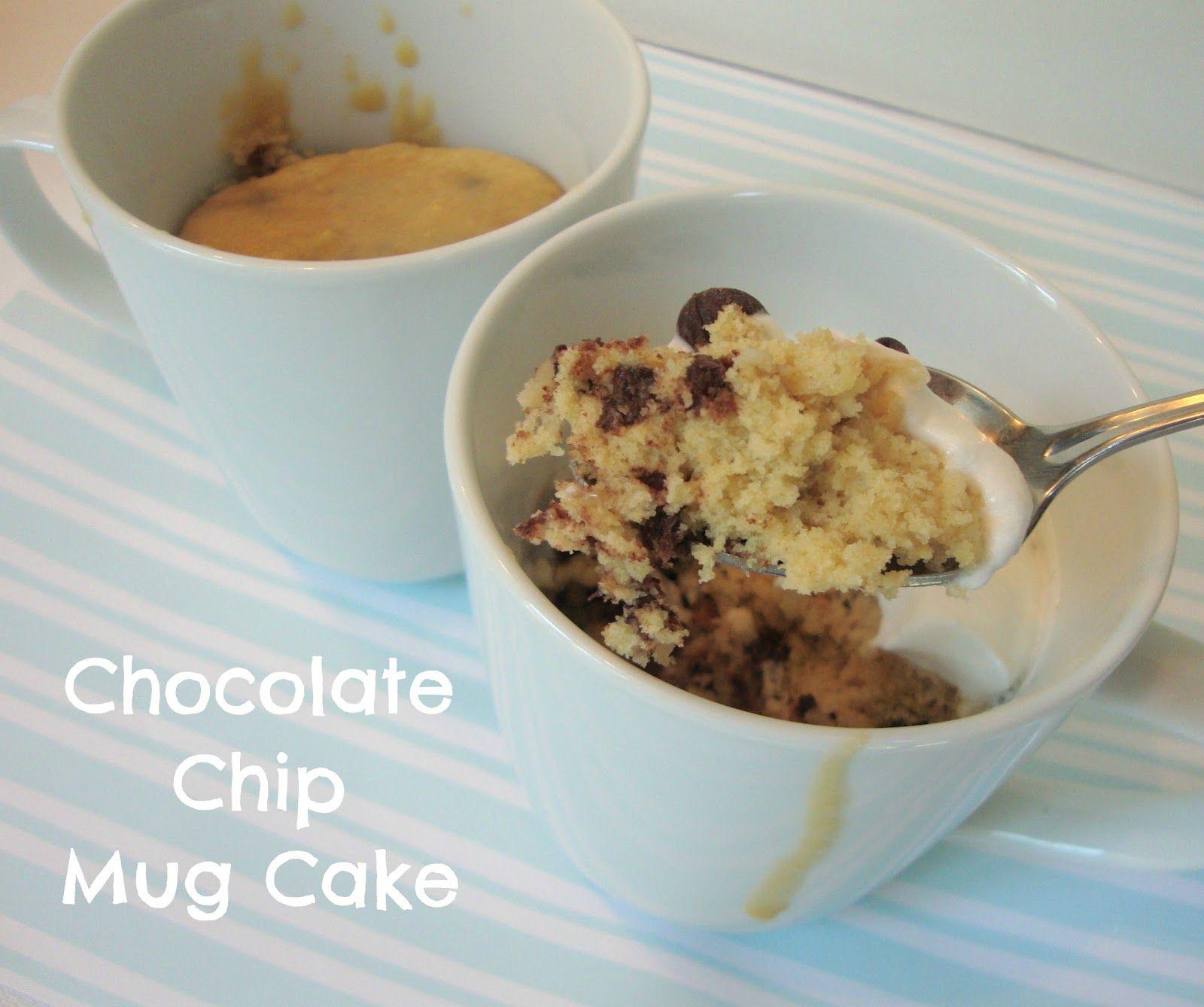 Chocolate Chip Cookie Dough Mug Cake