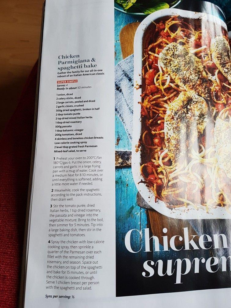 Slimming World Chicken Parmigiana And Spaghetti Bake Healthy