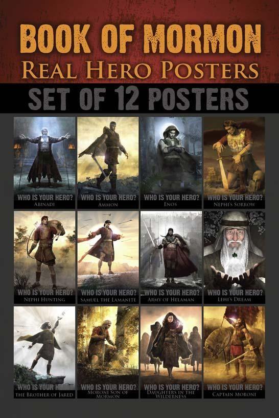 The Book Of Mormon Heros Set Contains 12 Cards Featuring Abinadi Ammon Enos Nephis Sorrow Nephi Hunting Samuel Lamanite Army Helaman Lehis Dream
